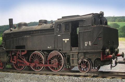 Leichte Verschmutzung erhöht den Realismus im eintönigen Eisenbahnschwarz