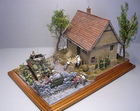 Das Diorama wartet wiederum mit interessanten Blickwinkeln von allen Seiten auf.
