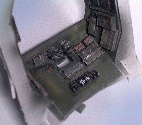 Auch an der Innenwand des Oberbaus bieten viele Ausrüstungsgegenstände Chancen zur Detaillierung.