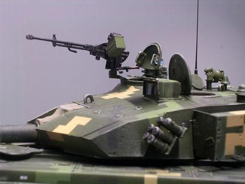 Das schwere 14,7mm Fla-MG an der Luke des Ladeschützen.