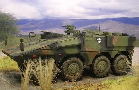Fünf Fahrzeuge sind an die Truppe bereits ausgeliefert worden und werden demnächst in Afghanistan eingesetzt.