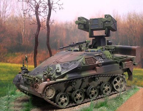 Hier sieht man gut, wie sich die NATO-Tarnung gut in die Umgebung einfügt.