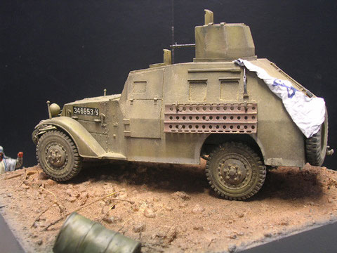 Hier sieht man den neuen Panzeraufbau auf den vornmals M2 Scout Cars.