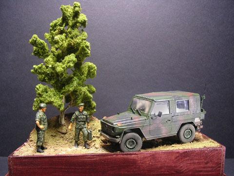 Kleines Diorama mit etwas Geländemodulation