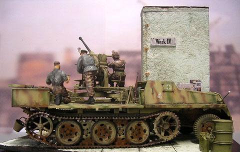 Der SWS bekam die 3-Farben-Streifentarnung der letzten Kriegsjahre.