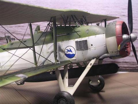 """Mit Luftorpedo und Decals einer """"Ark Royal"""" Maschine"""