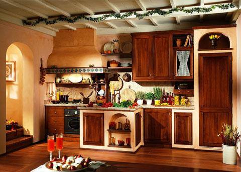 cucina in muratura finta in multistrato a PALO DEL COLLE
