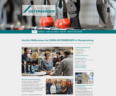 Die neue Homepage von Eisen Osterberger