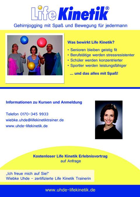 Flyer Life Kinetik in Hamburg Duvenstedt Vorderseite