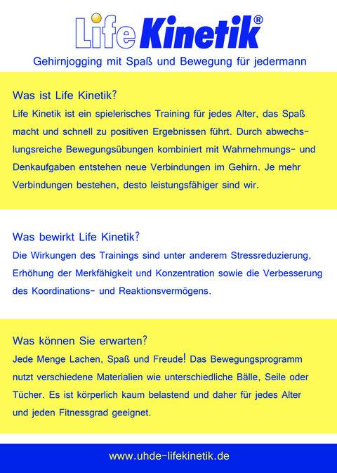 Flyer Life Kinetik in Hamburg Duvenstedt Rückseite