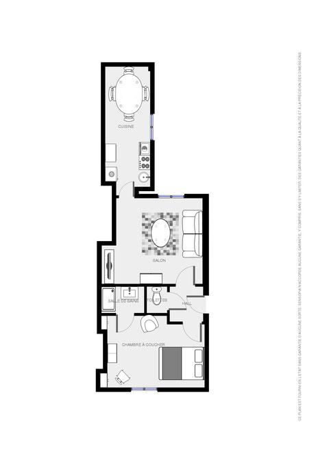 Appart'Rochechouart 40 m²