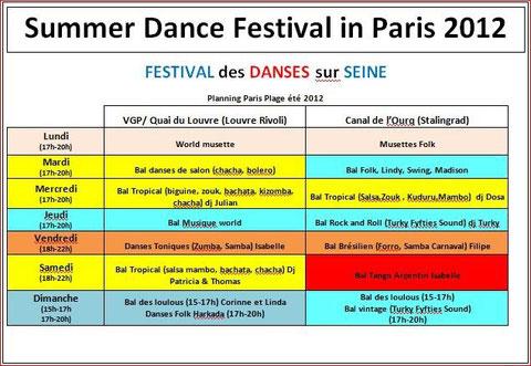 Paris danses en Seine 2012