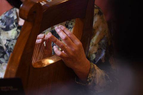 竪琴 ライアー てるる詩の木工房 ライアー教室 沖縄 レッスン 竪琴制作・販売 てるる 41弦 39弦 leier lyre ソプラノライアー