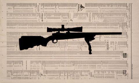 DIE GEWALTEN/ Gewehr  - 2008, Hochdruck, 33 x 56 cm