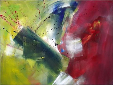 Acrylbild mit dem Label BURK ART