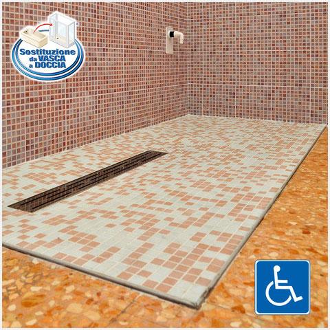 Mosaico per piatto doccia amazing mosaico casaeco pavimenti e in for freddo collezione da - Elemento a elle piastrelle ...