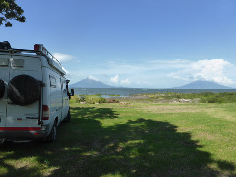 Am Lake Nicaragua mit Ometepe Island