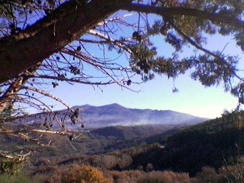 Monte Amiata - Toscana - Veduta panoramica da Monticello Amiata