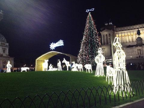 Presepio ENEL - Piazza Venezia, Roma, Natale 2011