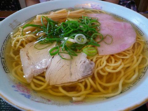紹介された、若竹食堂さんの中華そば