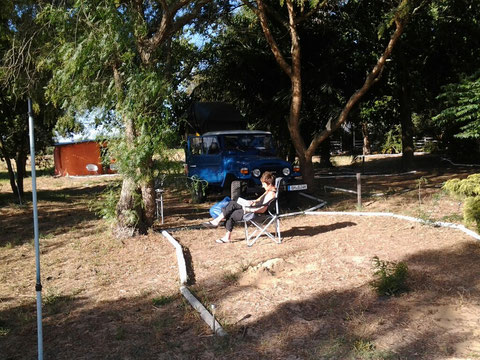 Unser Camp bei African Overlanders