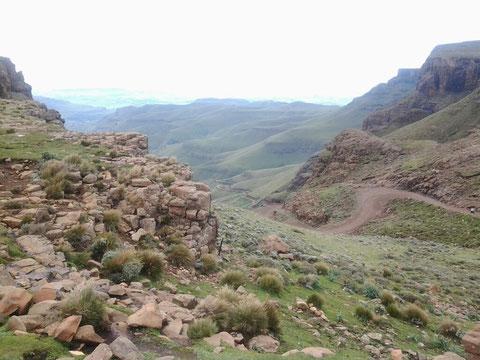 Blick vom Sani Pass (Lesotho) nach Südafrika