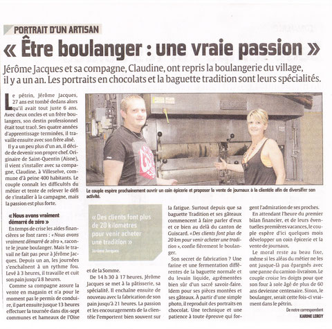 Article du Courrier Picard le 31 juillet 2013.