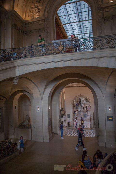 Escalier Mollien, construit par Lefuel, Musée du Louvre