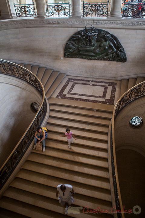 La nymphe de Fontainebleau, Benvenuto Cellini, Escalier Mollien, construit par Lefuel, Musée du Louvre