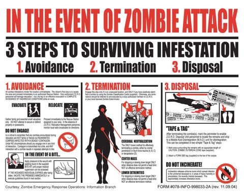 Guía del Gobierno de los EEUU en caso de epidemia zombi (clic para ampliar).