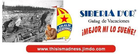 Publicidad de los mejores Gulags de la URSS, calificados con cuatro estrellas (rojas) en la Guía Michelinov