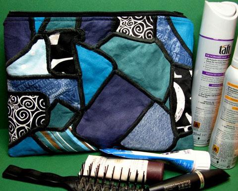 """""""Mosaik"""", 28 x 20cm, innen dunkelblau"""