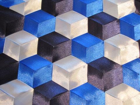 Japanische Flechttechnik, Hexagonmuster - so sieht es fertig aus