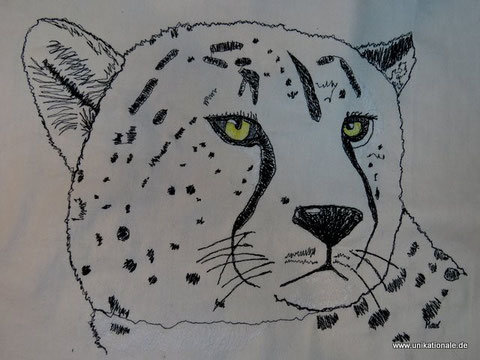 Genähmalter Gepard