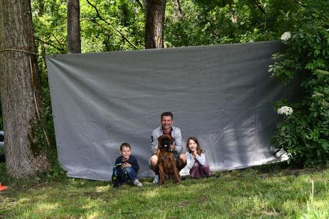Hubert et sa famille, le petit dernier de cette grande famille