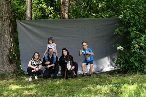 Eyden et sa famille