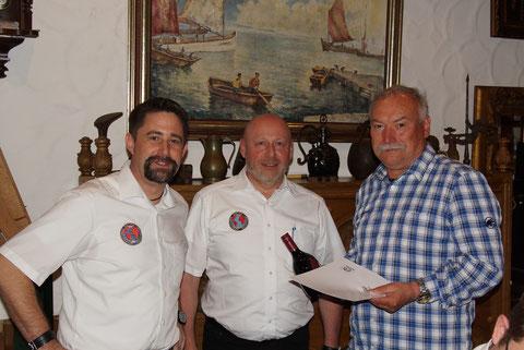 (v.l.) Verbindungsstellenleiter Markus Glock, Sekretär Ulrich Mohr und Herbert Lotter
