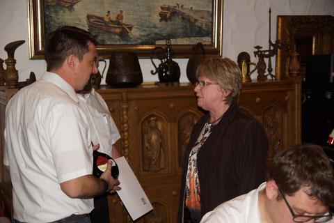 Barbara Richter wurde für 25-jährige Mitgliedschaft geehrt.