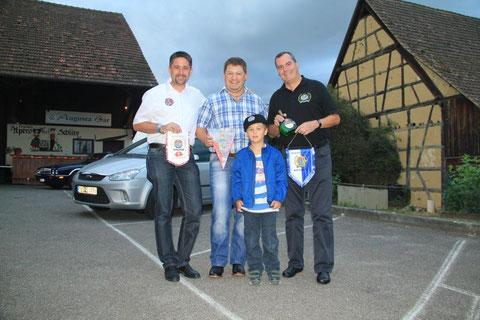 (v.l.n.r.) Markus Glock, Albin Hugentobler, Niklas Glock, Ludwig Mohler