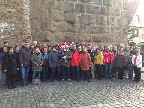 50 kleine und große IPA-Freunde besuchten am 15.12.2013 den Rothenburger Weihnachtsmarkt
