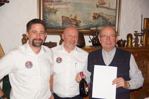 (v.l.) Verbindungsstellenleiter Markus Glock, Sekretär Ulrich Mohr und Emil Müller