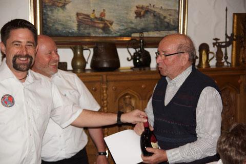 Unser Mitglied Emil Müller wurde für seine 40-jährige Mitgliedschaft geehrt.