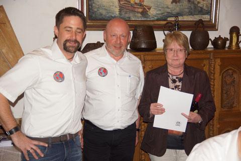 (v.l.) Verbindungsstellenleiter Markus Glock, Sekretär Ulrich Mohr und Barbara Richter