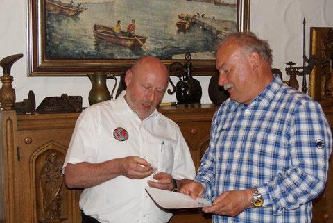 Herbert Lotter wurde schließlich ebenfalls für 25-jährige Mitgliedschaft ausgezeichnet.
