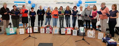 Unsere Frühförderinnen beim 25-jährigen jubiläum der Lebenshilfe Havelland e.V. im Sommer 2016