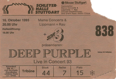 Deep Purple Konzert Stuttgart