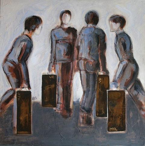 Travel (group) - Acrylic on canvas 76x76cm