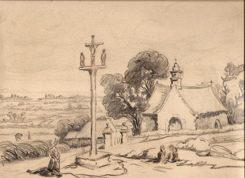 La chapelle de Saint Golgon en Côte d'Armor.