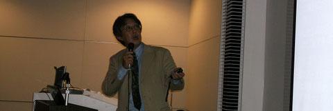 第65回日本人類学会での発表風景:2011年11月