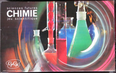 chimie jeu gégé vintage toy jouet ancien sciences futures éducatif scientifique